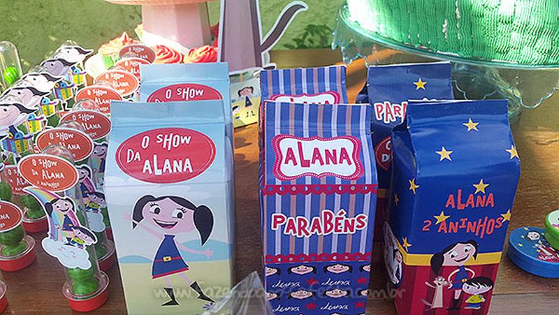 Caixa de leite Festa Show da Luna da Alana