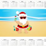 Calendario 2017 Natal Tropical Kit Festa