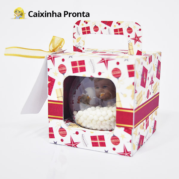 Como fazer Bolinha de Natal personalizada 9