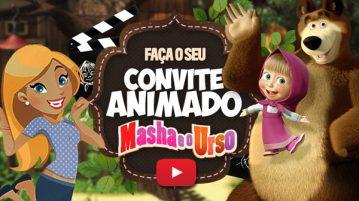Convite Animado Virtual Masha e o Urso