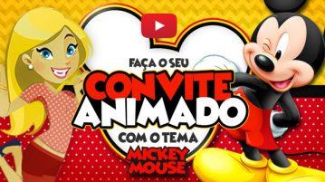 Convite Animado Virtual Mickey Mouse