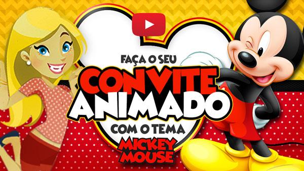 Convite Animado Virtual Mickey Mouse Grátis Para Baixar