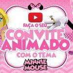 Convite Animado Virtual Minnie Rosa Grátis para Baixar