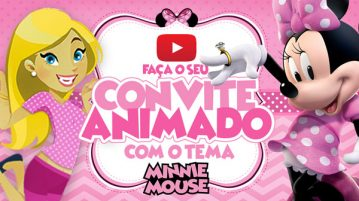 Convite Animado Virtual Minnie Rosa