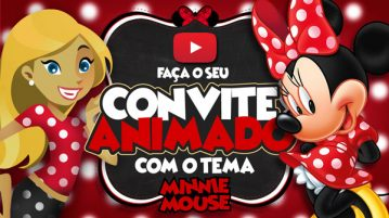 Convite Animado Virtual Minnie Vermelha