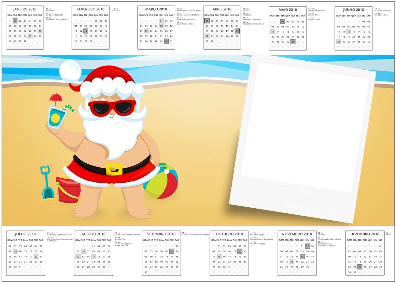 Convite Calendario 2017 Natal Tropical