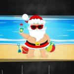 Convite Chalkboard Natal Tropical