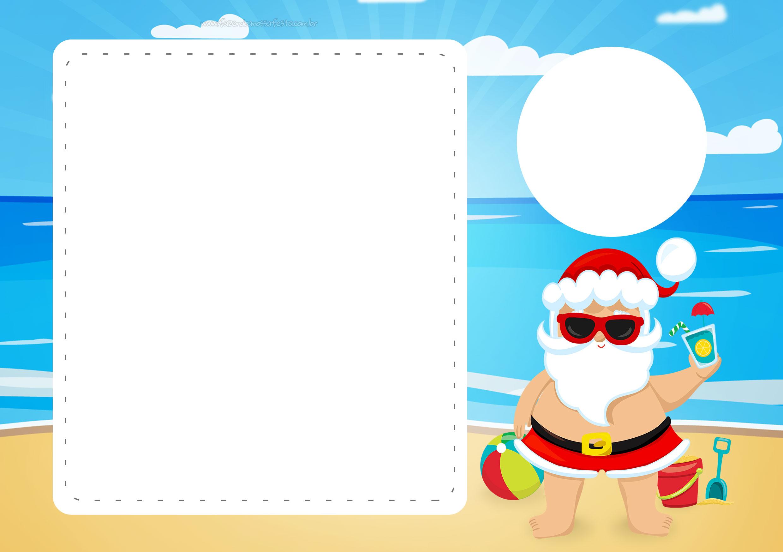 Convite Natal Tropical 2