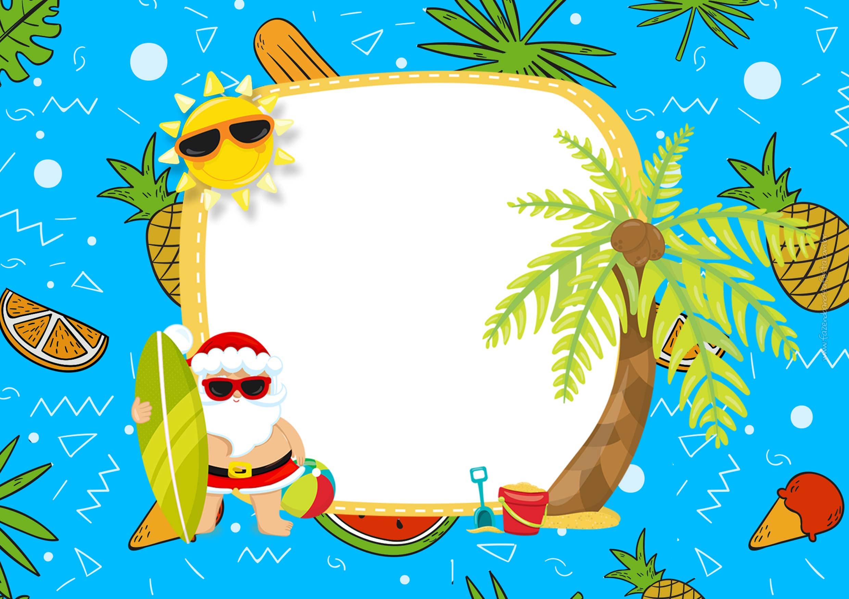 Convite para Natal Tropical 3