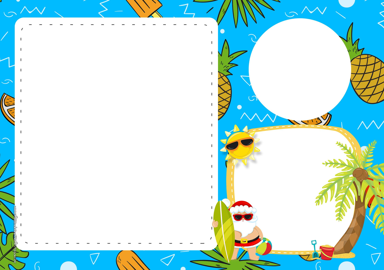 Convite Natal Tropical 4