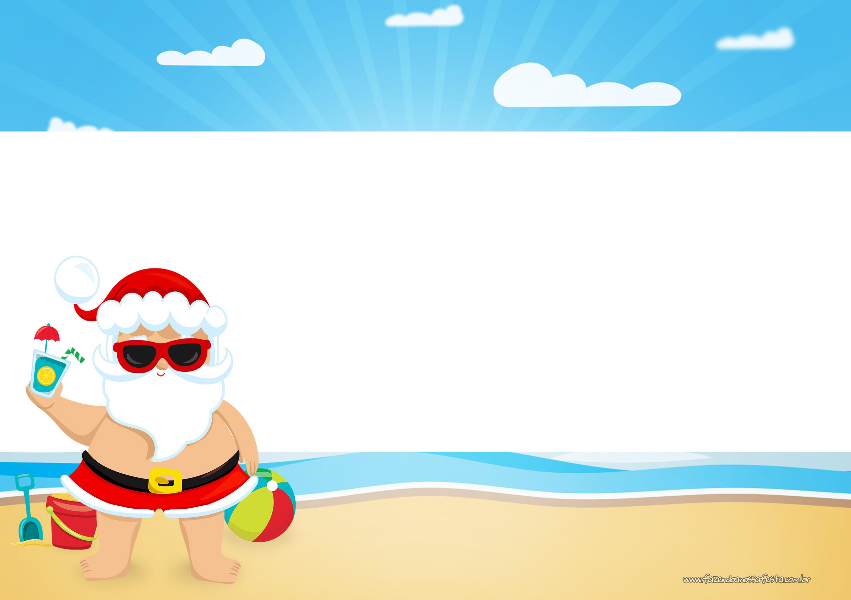 Convite Natal Tropical 5