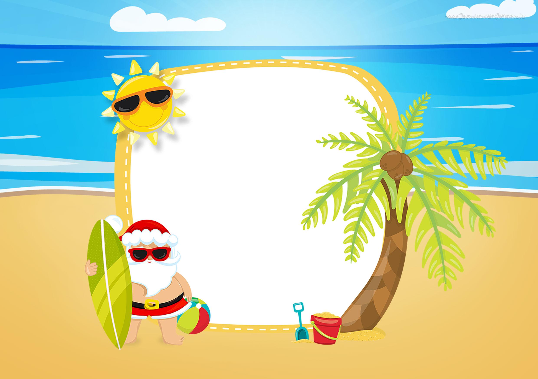 Convite Natal Tropical