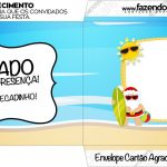 Envelope do Cartao Agradecimento Natal Tropical