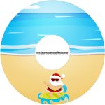 Etiqueta CD DVD Natal Tropical