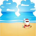 Marcador de Paginas Natal Tropical