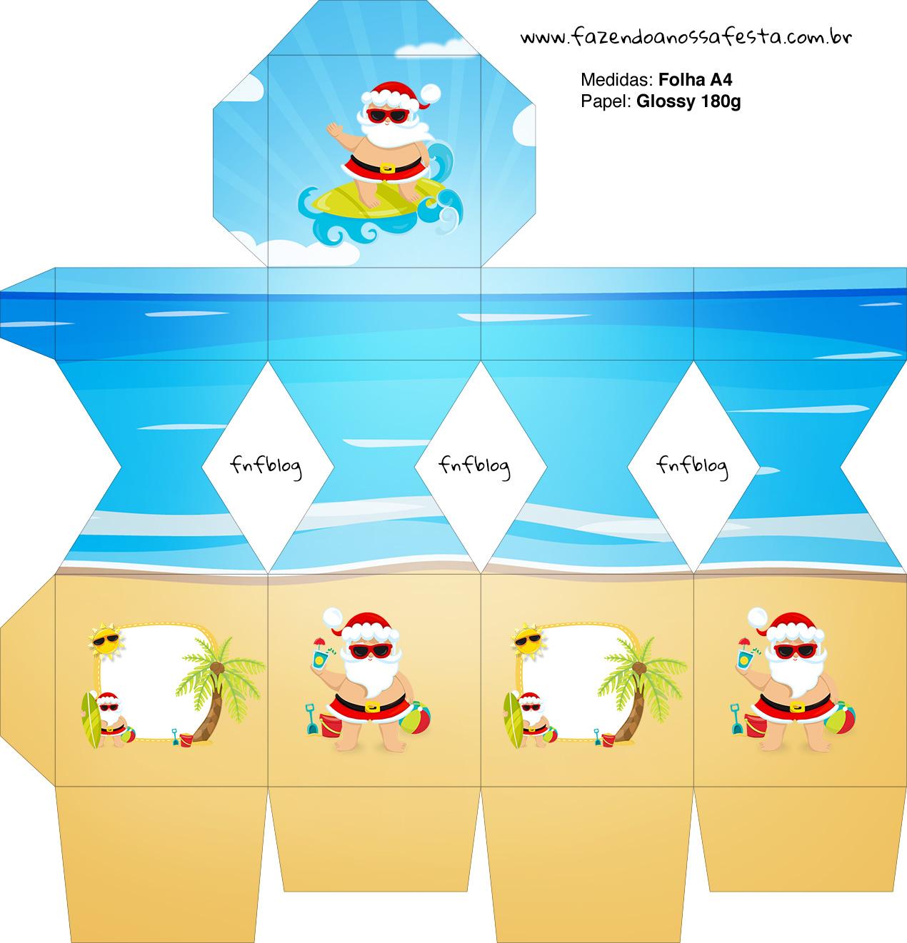 Meia Caixa Bala Natal Tropical