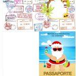Molde Passaporte Natal Tropical