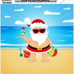 Molde Quadrado Natal Tropical Kit Festa