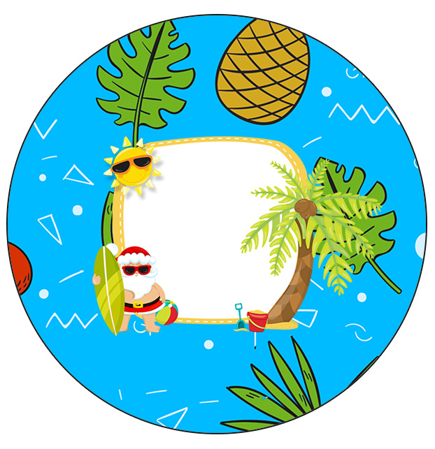 Molde para Latinha Natal Tropical