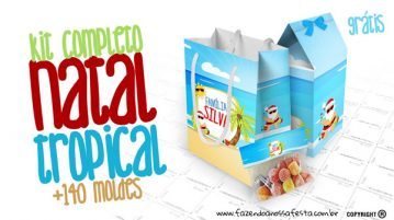 Natal Tropical Kit Festa Gratis