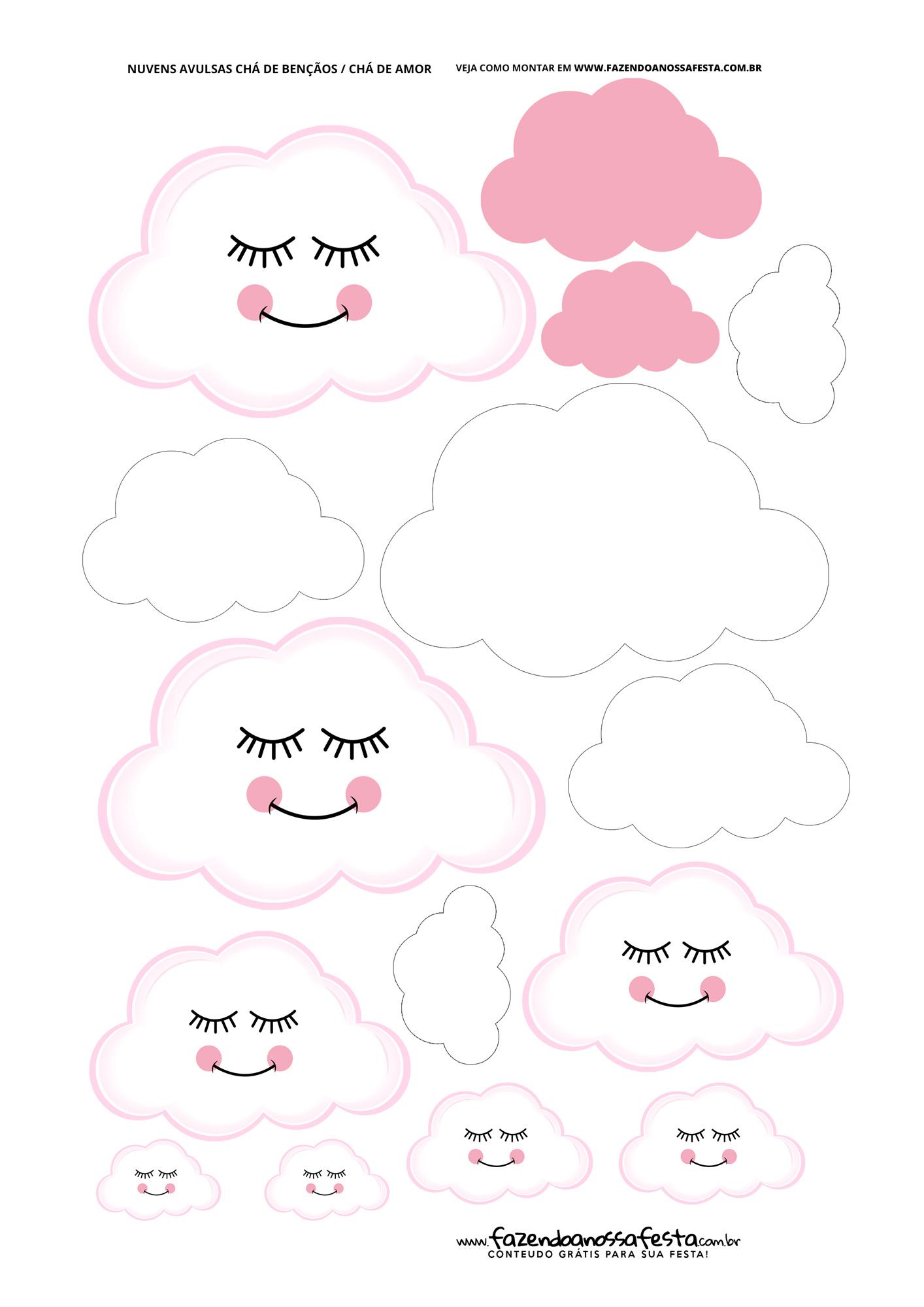 Nuvens para Festa Chuva de Amor