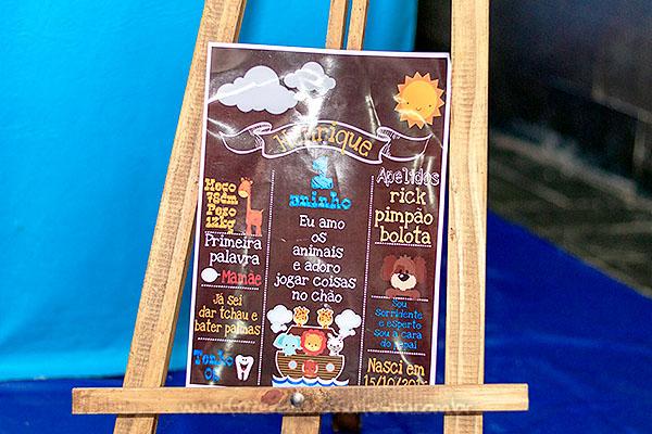 Chalkboard Festa Arca de Noé do Henrique