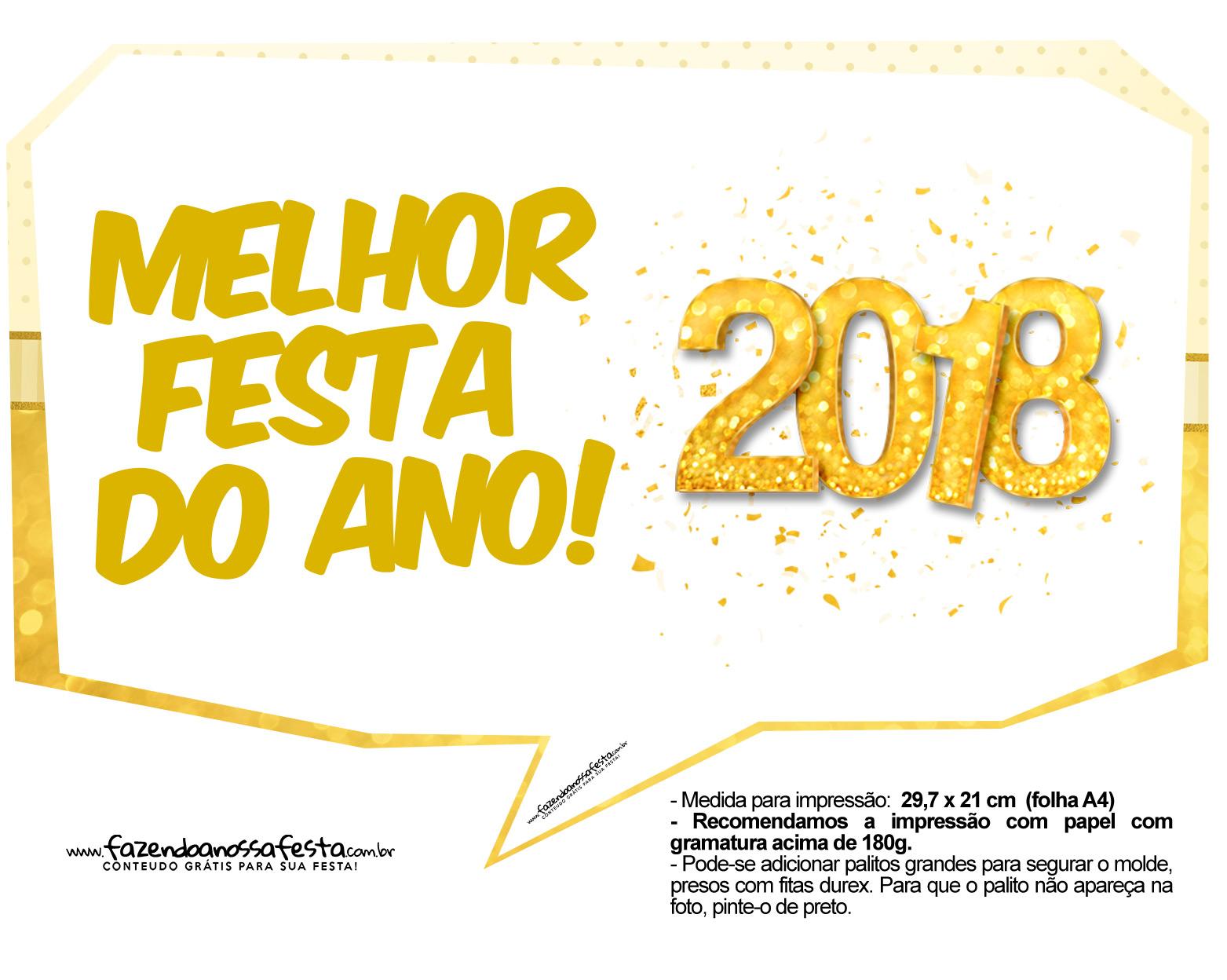 Plaquinha Ano Novo Revellion 2018 11
