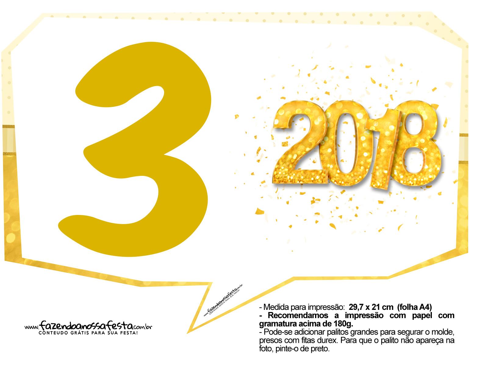 Plaquinha Ano Novo Revellion 2018 13