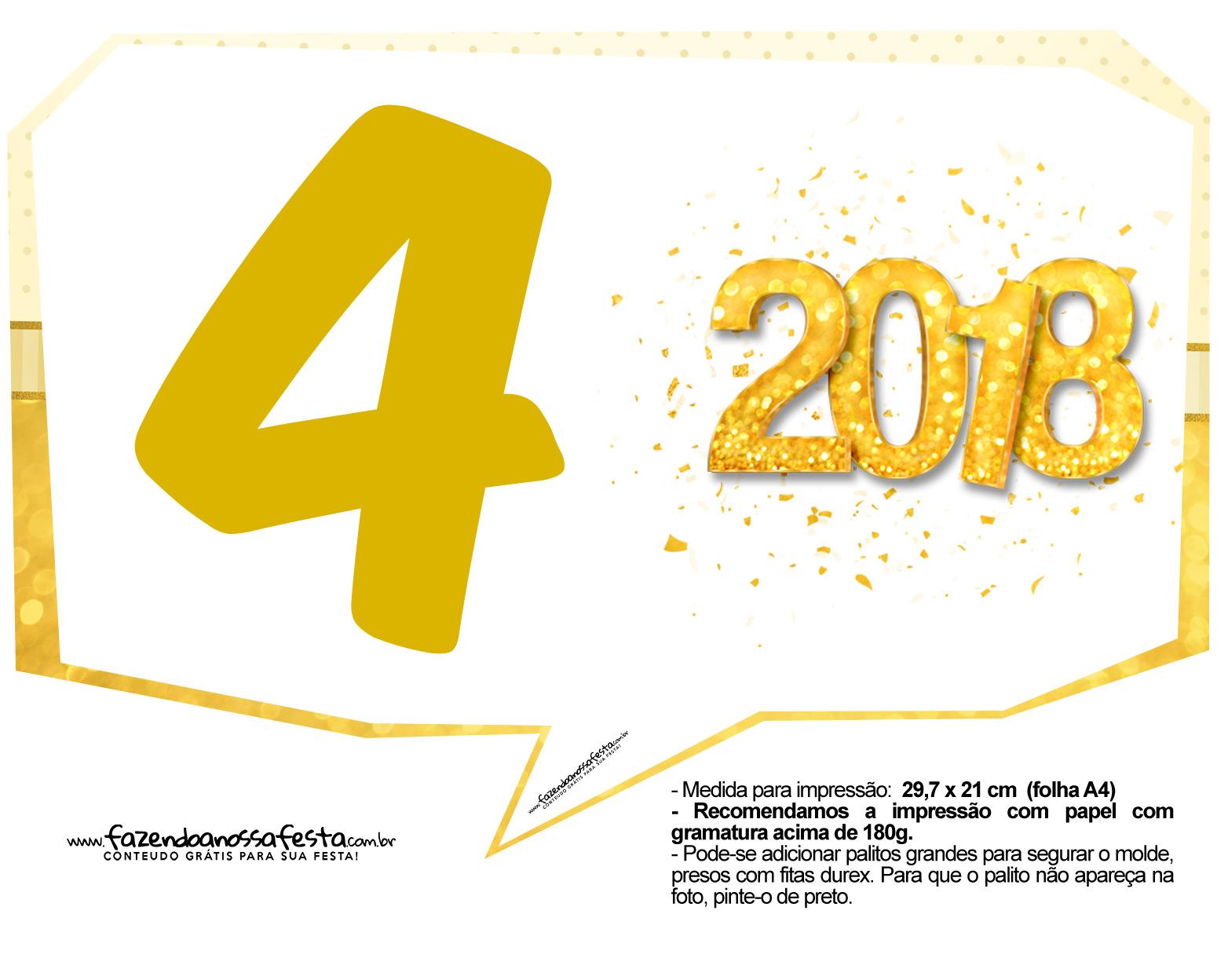 Plaquinha Ano Novo Revellion 2018 14