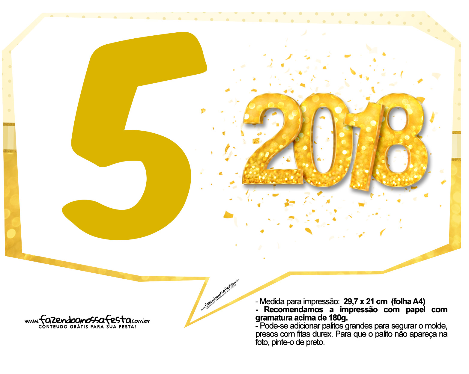 Plaquinha Ano Novo Revellion 2018 15