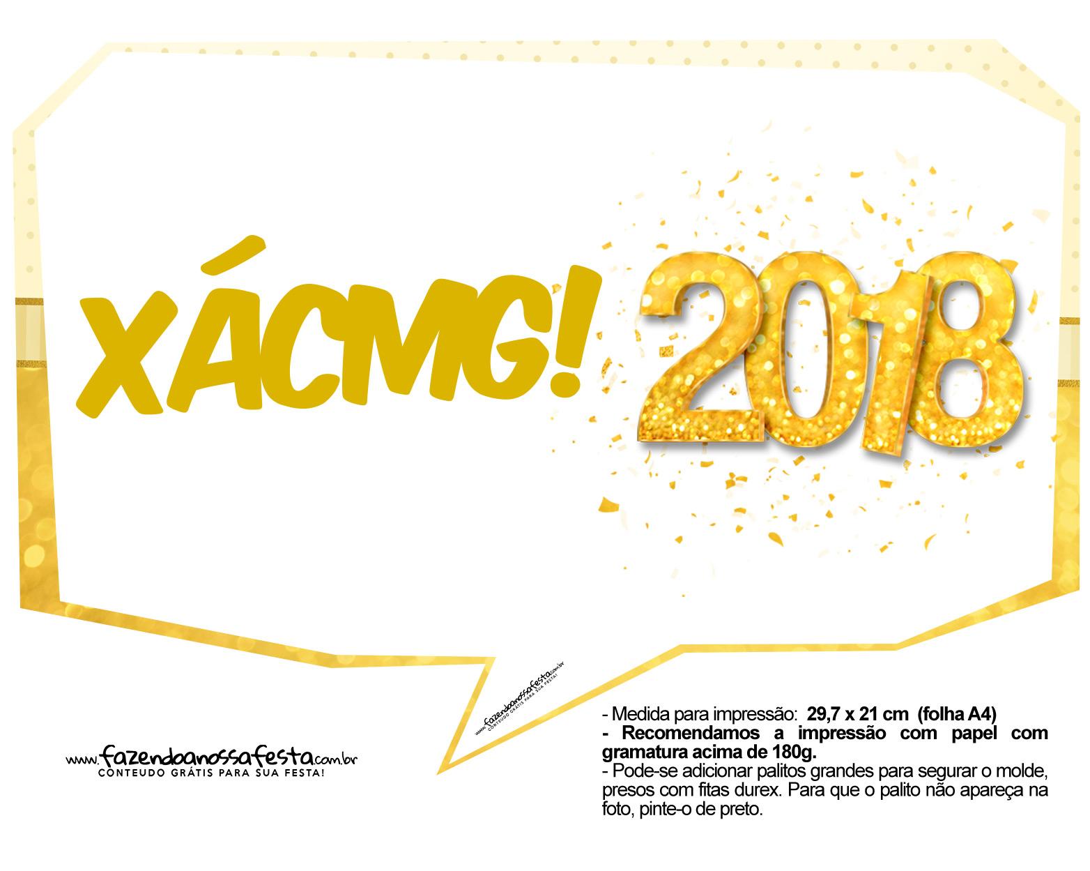 Plaquinha Ano Novo Revellion 2018 16