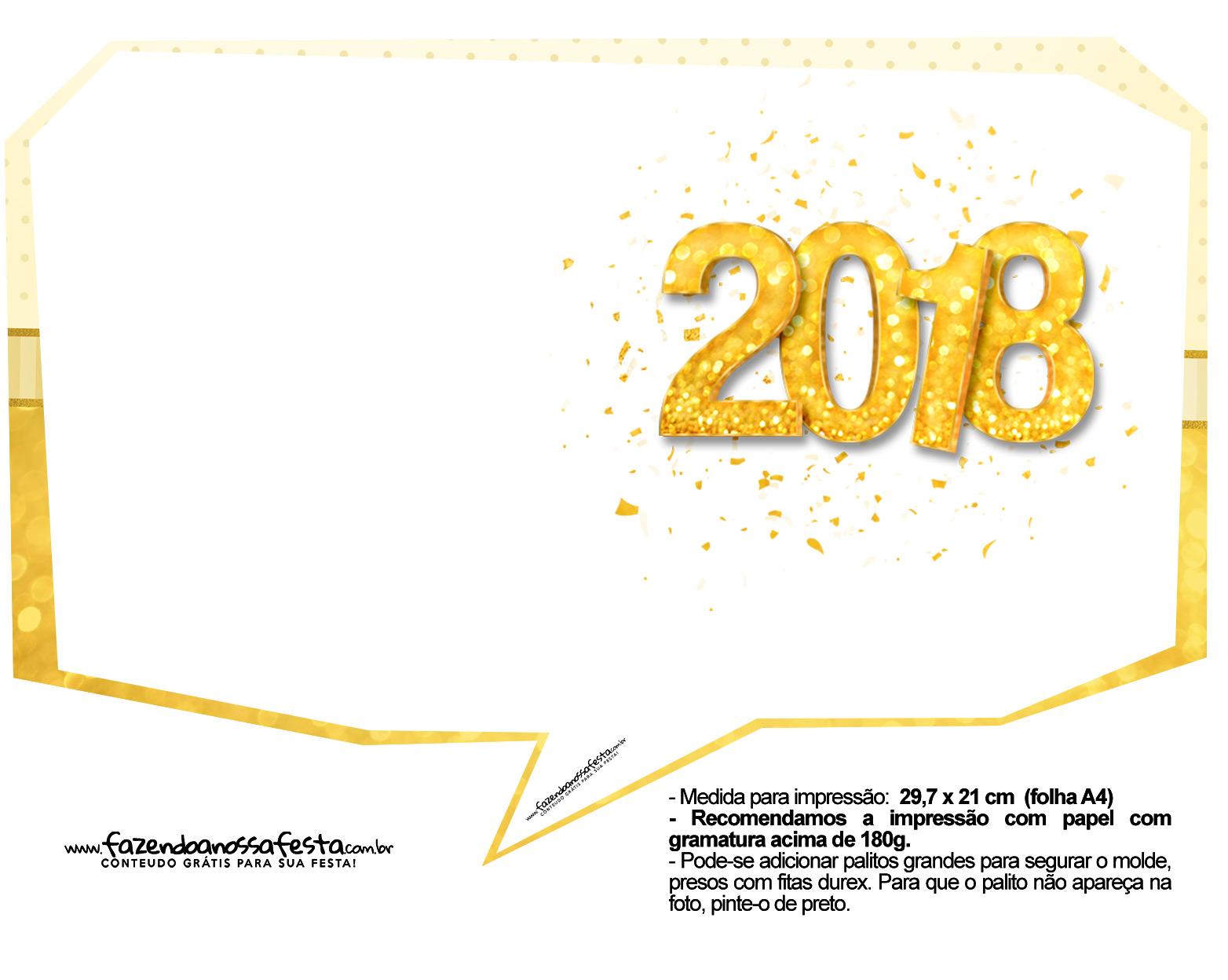 Plaquinha Ano Novo Revellion 2018 18