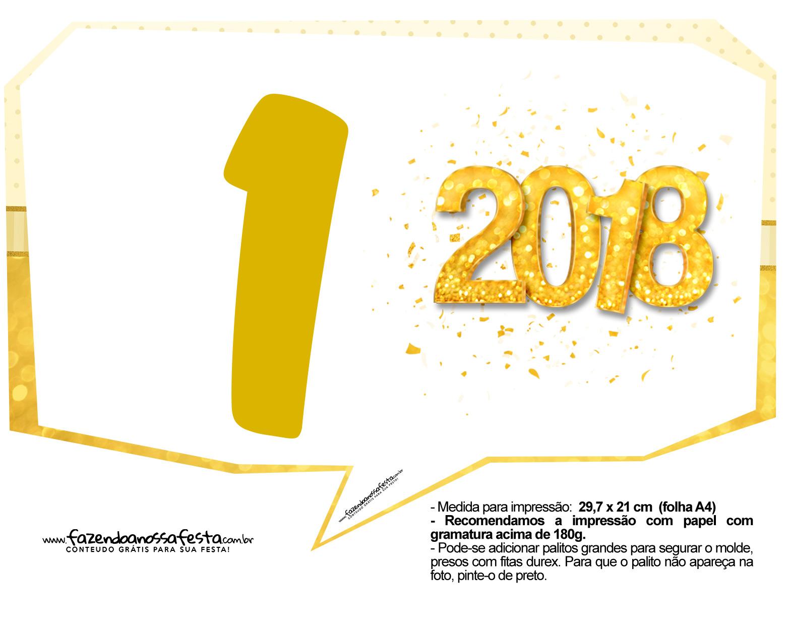 Plaquinha Ano Novo Revellion 2018 19