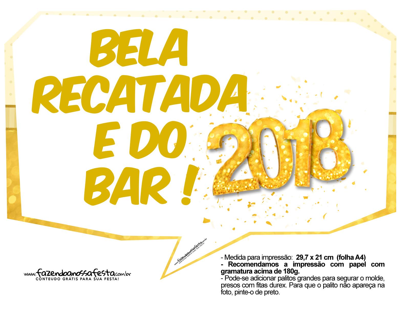 Plaquinha Ano Novo Revellion 2018 24