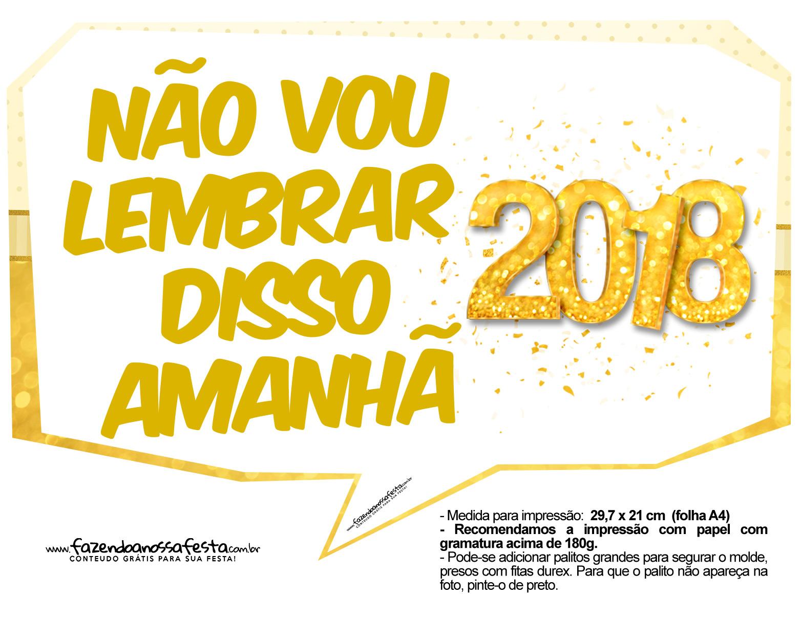 Plaquinha Ano Novo Revellion 2018 25