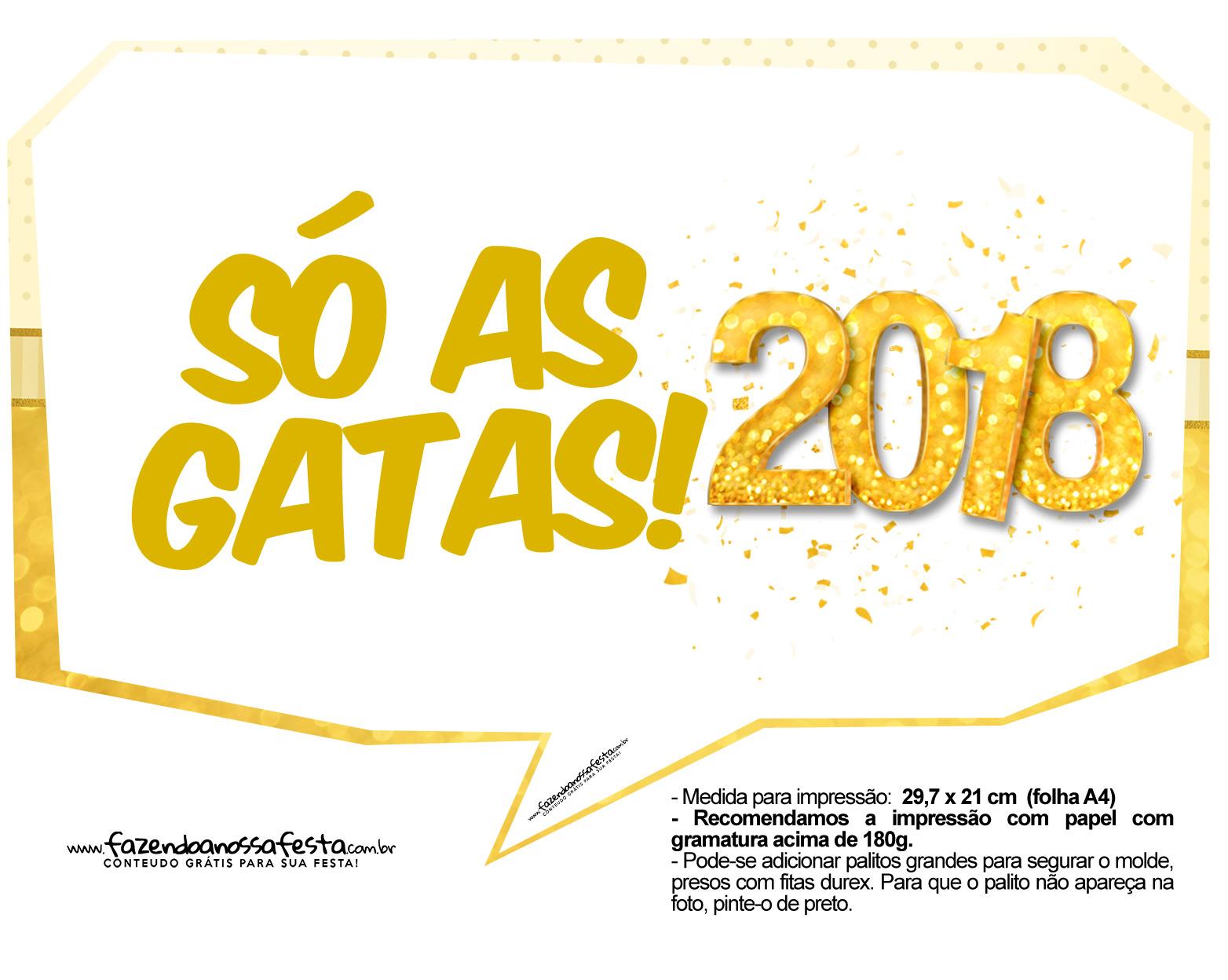 Plaquinhas Ano Novo 2018