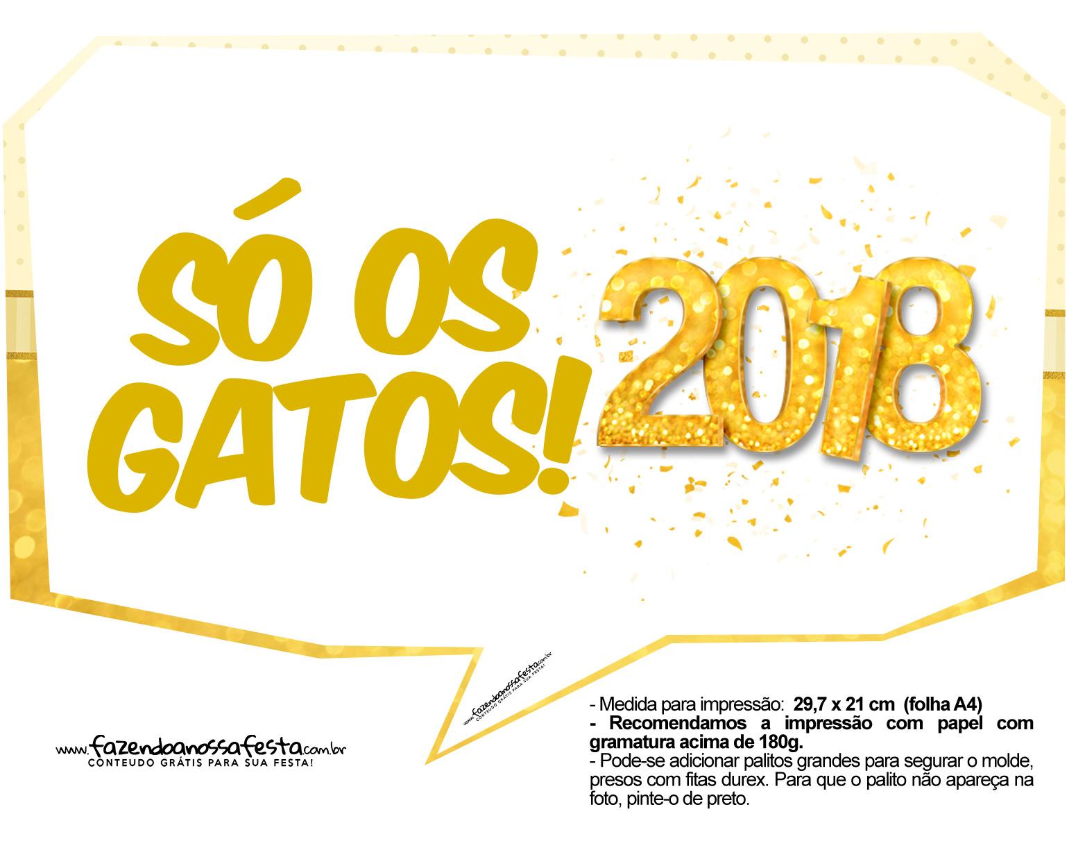 Plaquinhas Ano Novo 2018 3
