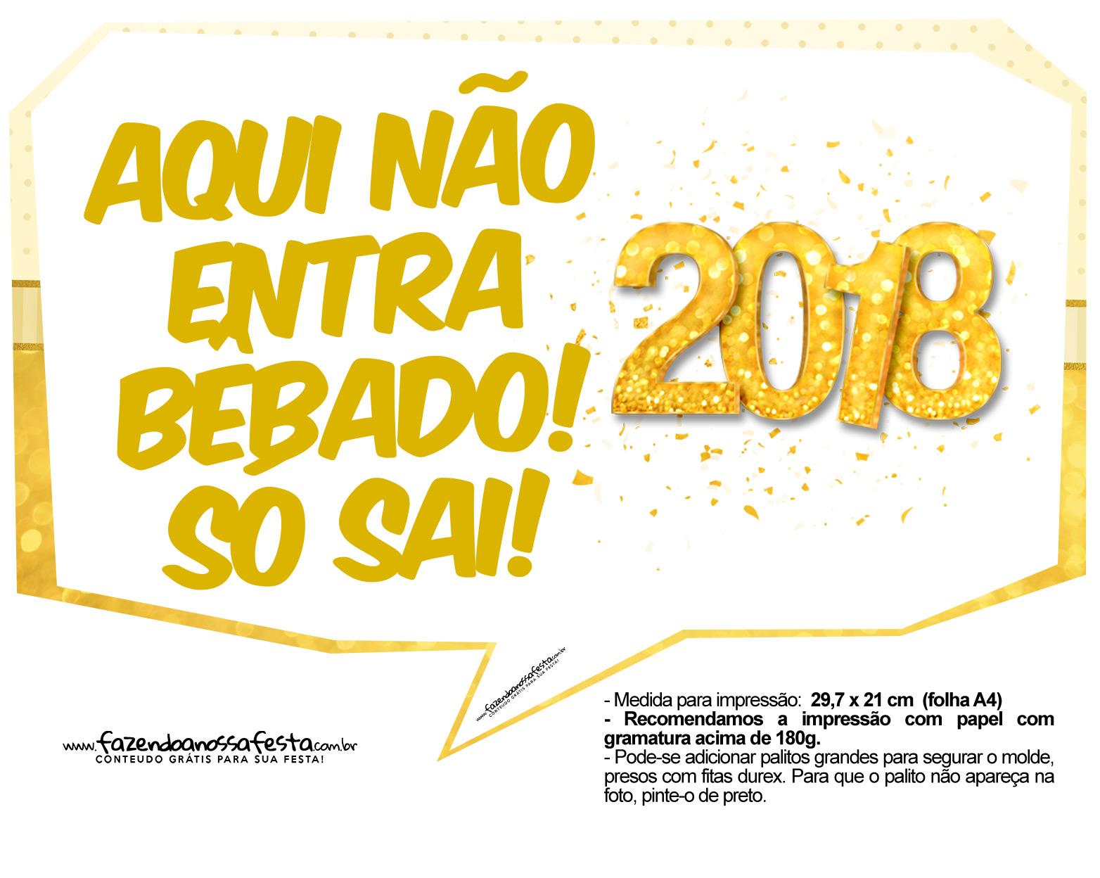 Plaquinhas Ano Novo 2018 7