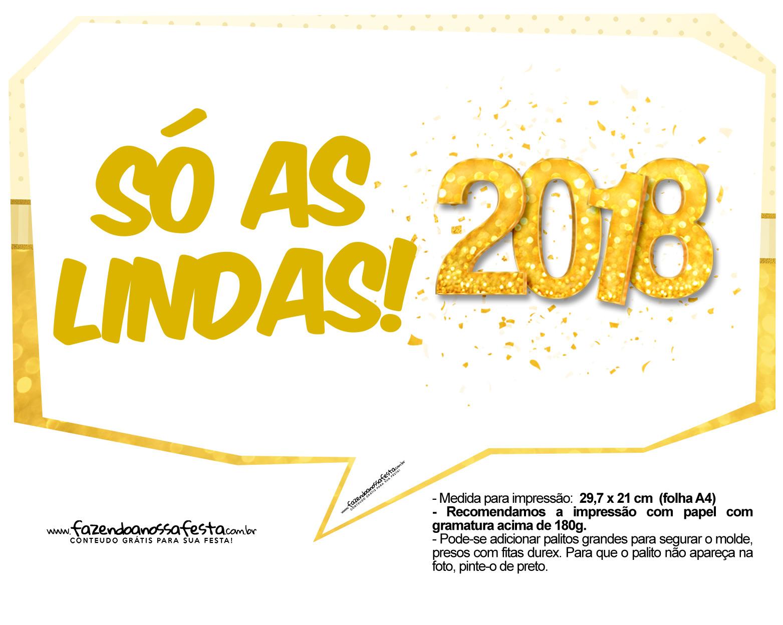 Plaquinhas Ano Novo 2018 8