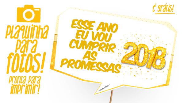 Plaquinhas Ano Novo 2018 Grátis Para Baixar E Imprimir Em Casa