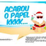 Plaquinhas divertidas Natal Tropical 2
