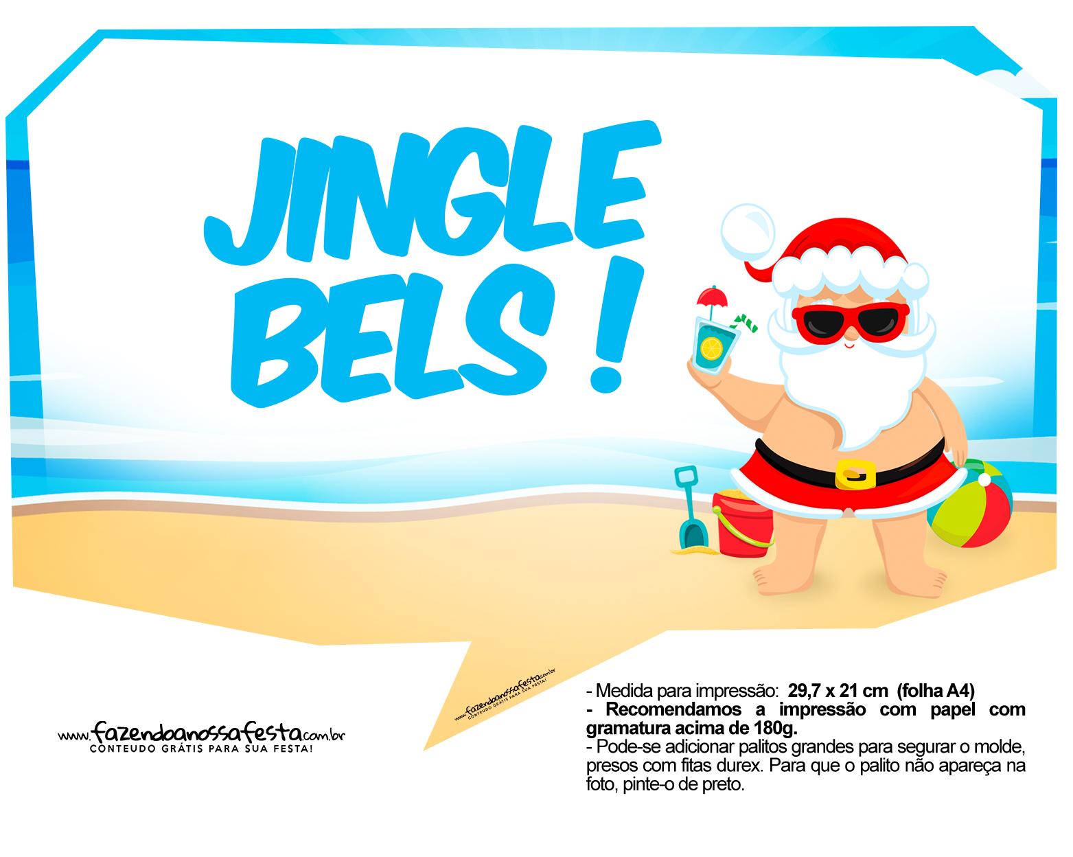 Plaquinhas Natal Tropical 3