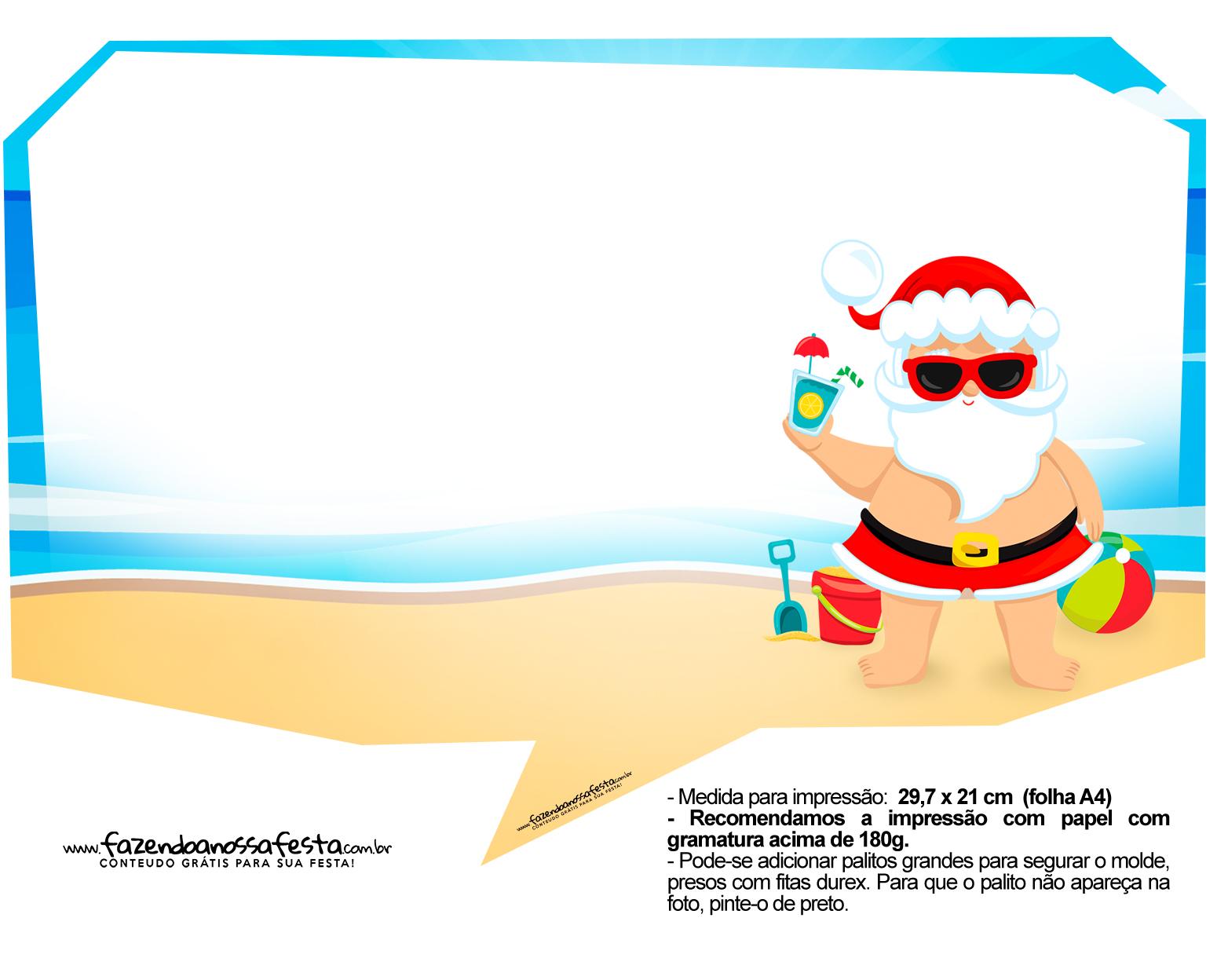 Plaquinhas Natal Tropical 7