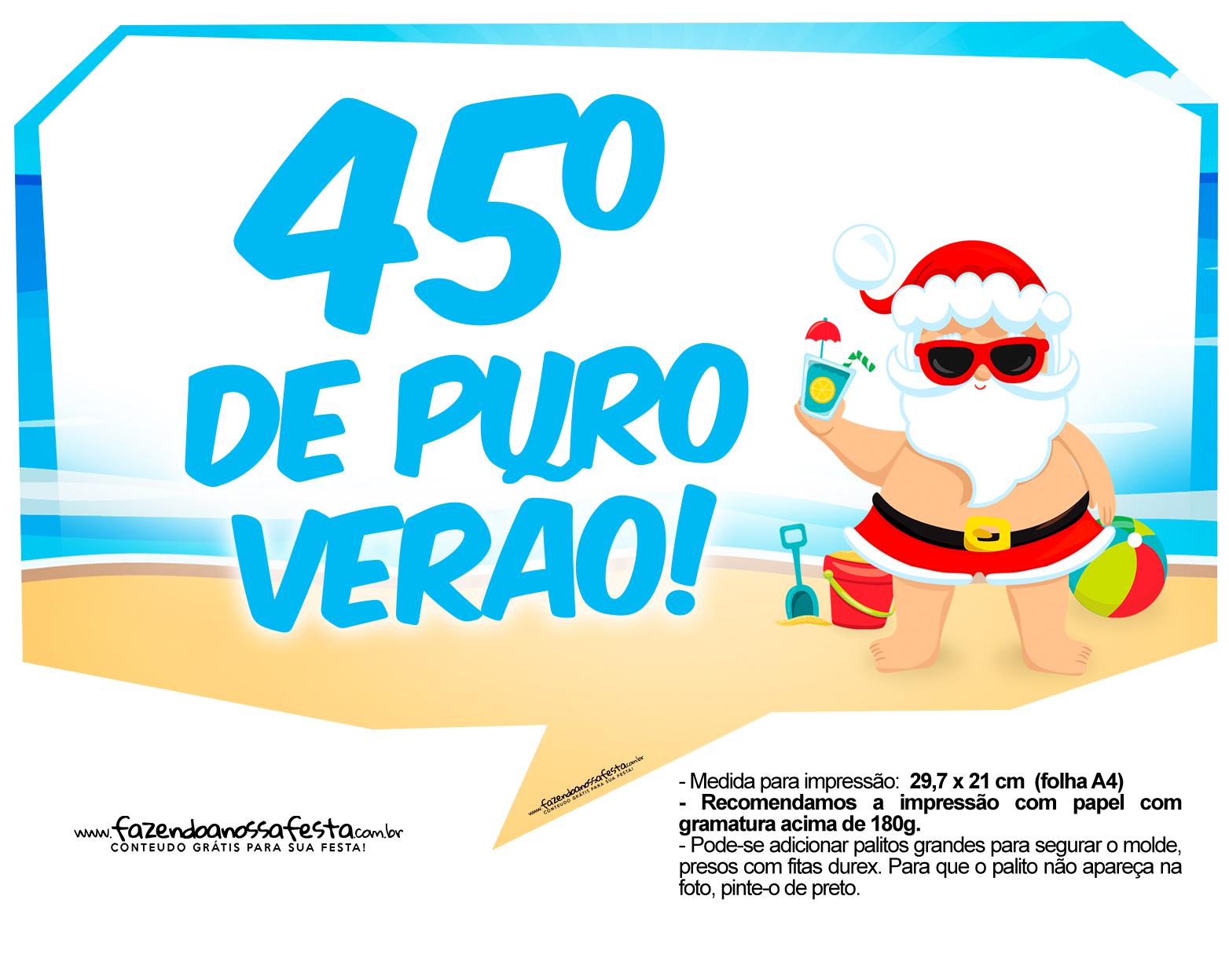 Plaquinhas divertidas Natal Tropical 19
