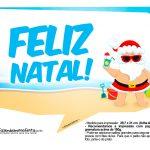 Plaquinhas divertidas Natal Tropical 22