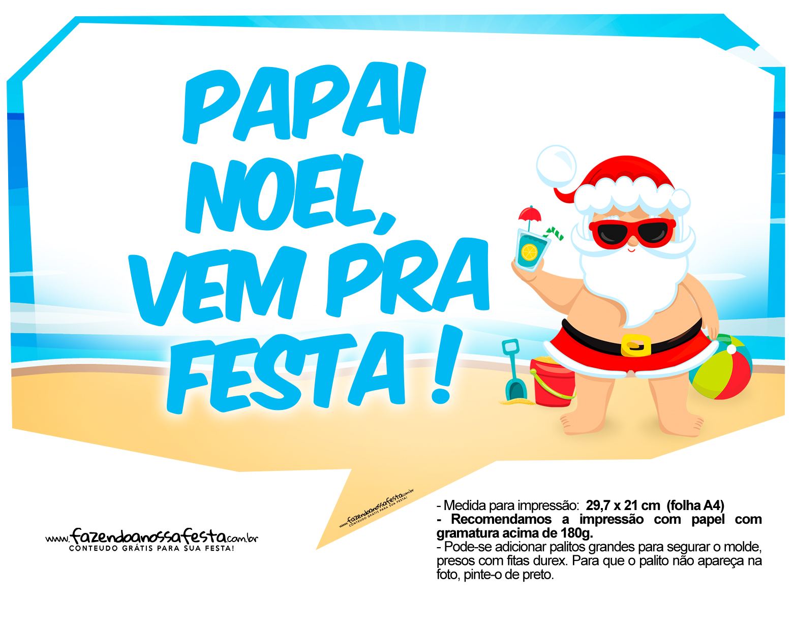 Plaquinhas divertidas Natal Tropical 23