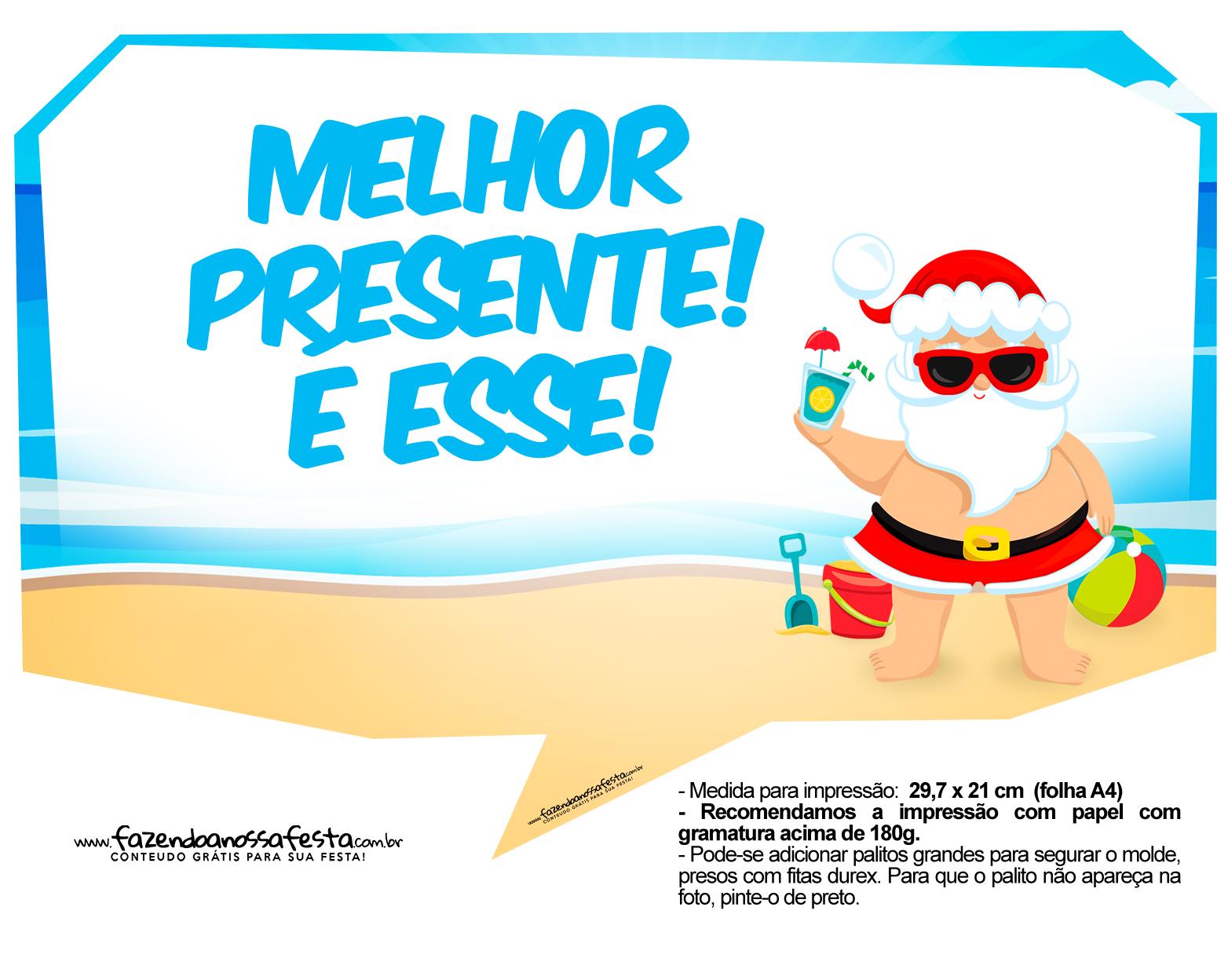 Plaquinhas divertidas Natal Tropical 28