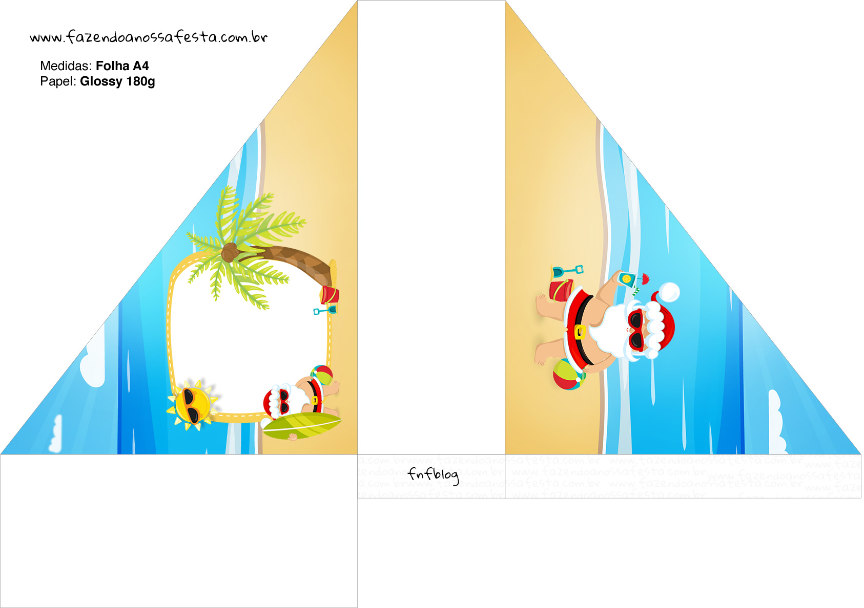 Porta Guardanapos Natal Tropical