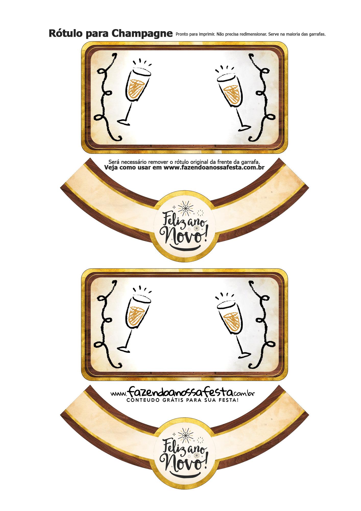 Rotulo Champagne Ano Novo 33