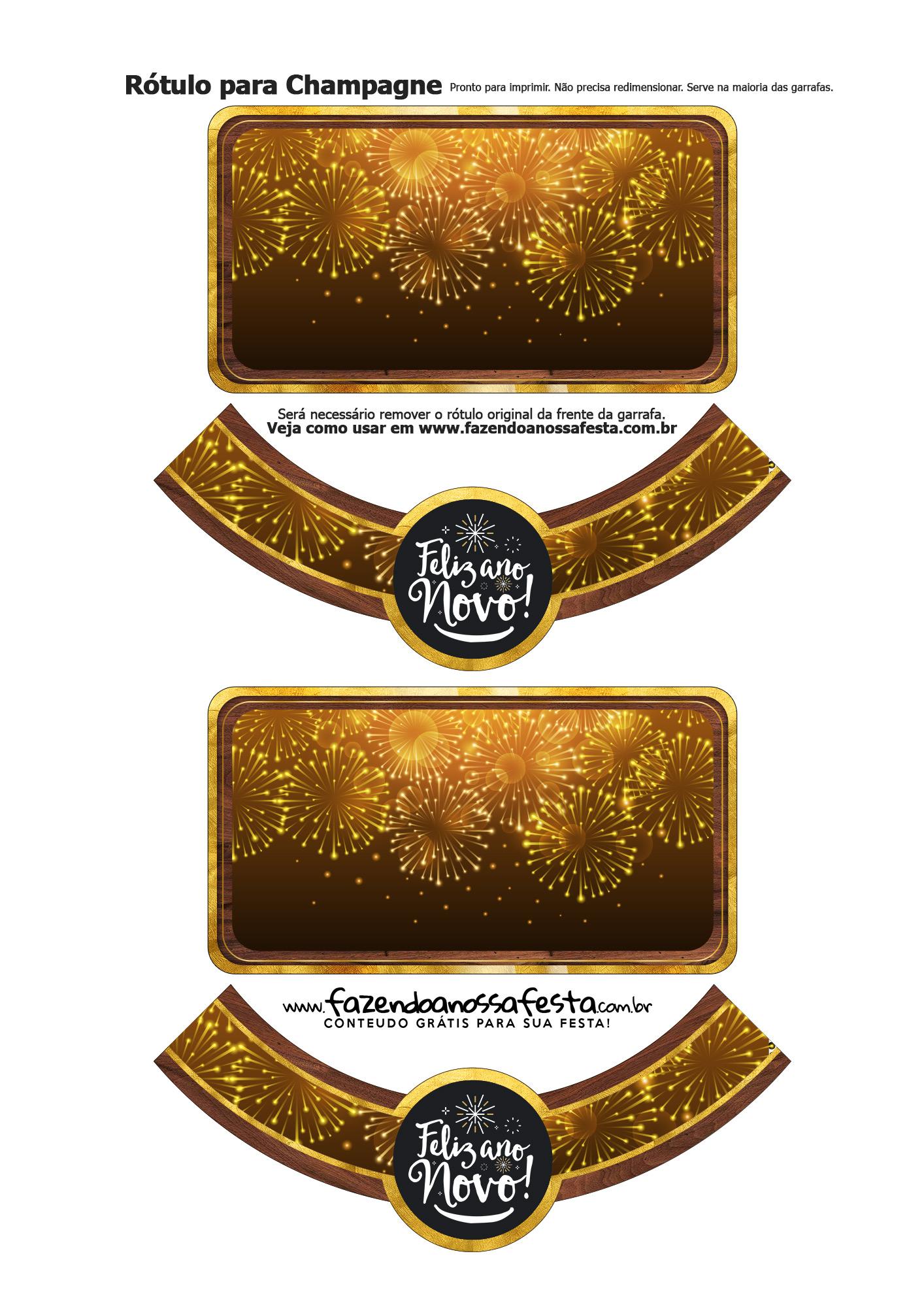 Rotulo Champagne Personalizado Ano Novo 33